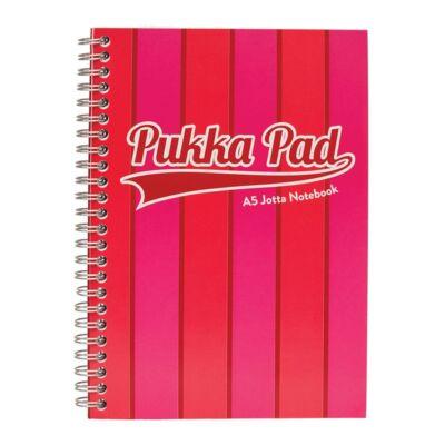 Spirálfüzet PUKKA PAD Vogue A/5 100 lapos vonalas rózsaszín