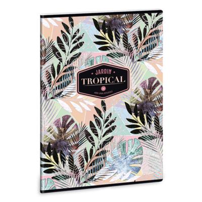 Füzet ARS UNA A/4 40 lapos Extra kapcsos kockás Tropical Leaf