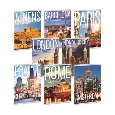 Füzet ARS UNA A/5 40 lapos Extra kapcsos kockás Cities Of The World
