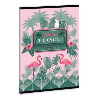 Füzet ARS UNA A/5 40 lapos Extra kapcsos sima Pink Flamingo 1