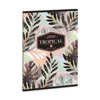Füzet ARS UNA A/5 40 lapos Extra kapcsos sima Tropical Leaf