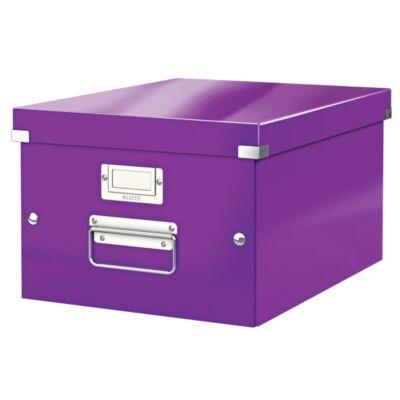 Tároló doboz LEITZ Click&Store A/4 lila