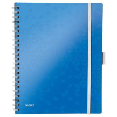 Spirálfüzet LEITZ Wow Active A/4 80 lapos kockás kék
