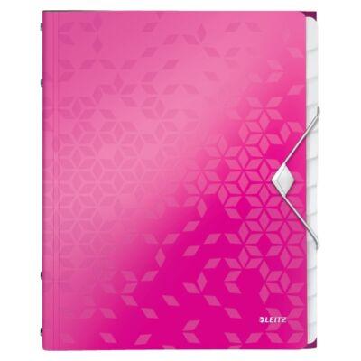 Előrendező LEITZ Wow A/4 12 részes rózsaszín