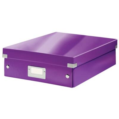 Tároló doboz LEITZ Click&Store rendszerező M méret lila