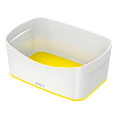 Tároló doboz LEITZ Wow Mybox műanyag fehér/sárga