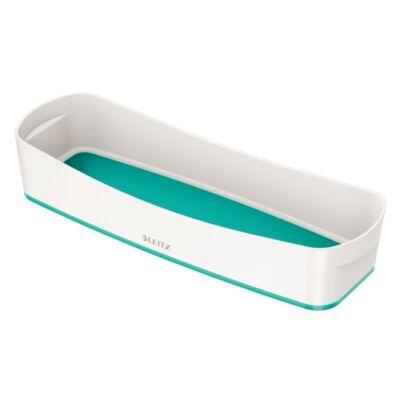 Tároló doboz LEITZ Wow Mybox műanyag keskeny fehér/jégkék