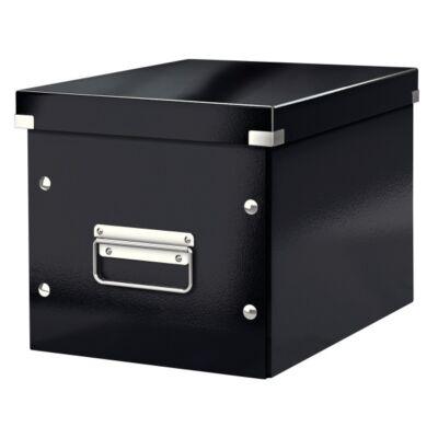 Tároló doboz LEITZ Click&Store M méret kocka fekete