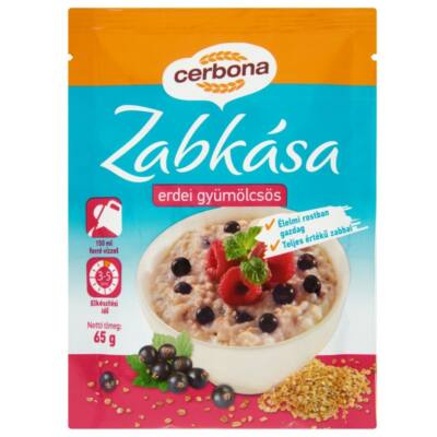Zabkása CERBONA instant erdeigyümölcsös 65g