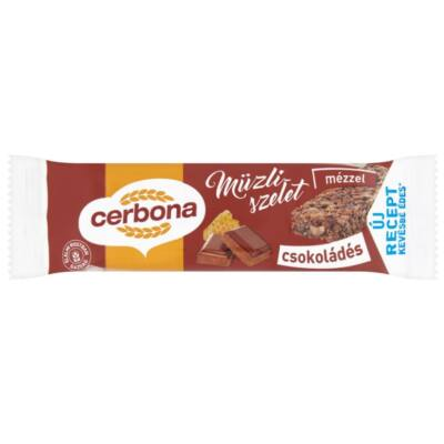 Müzliszelet CERBONA csokis 20g