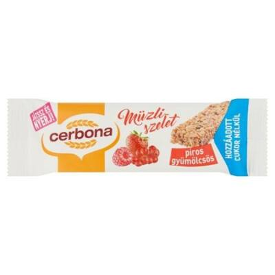 Müzliszelet CERBONA gyümölcsös 20g