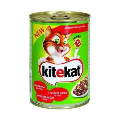 Állateledel konzerv KITEKAT macskáknak marhahússal 400g