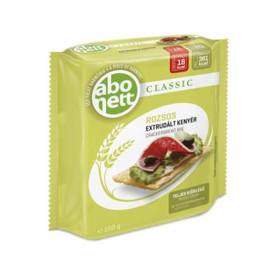 Extrudált kenyér ABONETT Classic teljes kiörlésű rozsos 100g