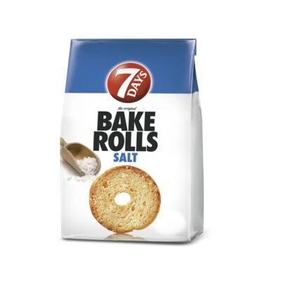 Kétszersült kenyérkarika 7DAYS Bake Rolls sós 80g
