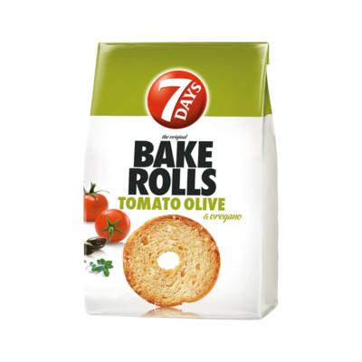 Kétszersült kenyérkarika 7DAYS Bake Rolls paradicsom-oregano-olíva fűszerezéssel 80g