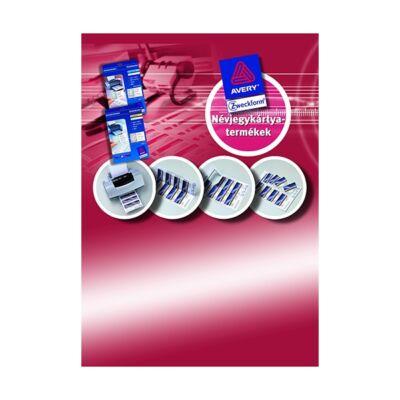 Etikett névjegy AVERY C32028-25 240g félfényes 200 címke/doboz 25 ív/doboz