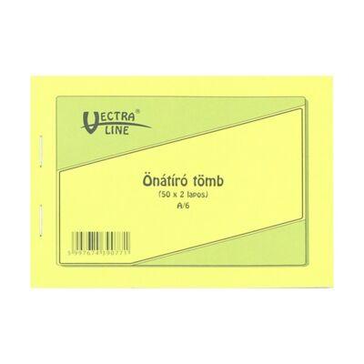 Önátírótömb VECTRA-LINE A/6 50x2 példány