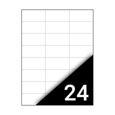 Etikett FORTUNA 70x37mm univerzális 2400 címke/doboz 100 ív/doboz