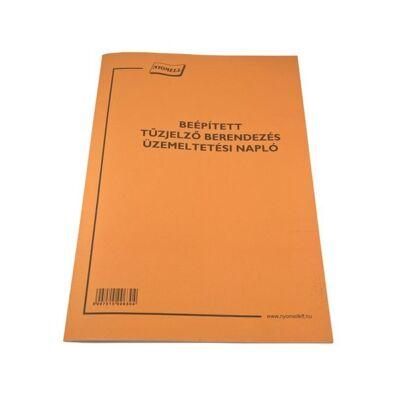 Nyomtatvány beépített tűzjelző berend. üzemelt. napló