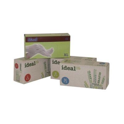 Gumikesztyű egyszer használatos latex púderes L 8-9