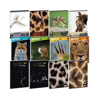Füzet ARS UNA A/4 40 lapos kockás Wild Life Moments