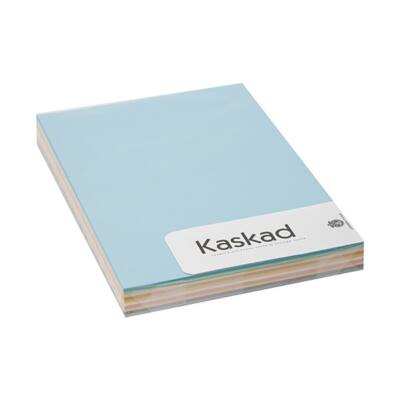 Dekorációs karton KASKAD A/4 225 gr pasztell vegyes színek 10x10 ív/csomag