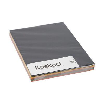 Dekorációs karton KASKAD A/4 160 gr élénk vegyes színek 5x25 ív/csomag