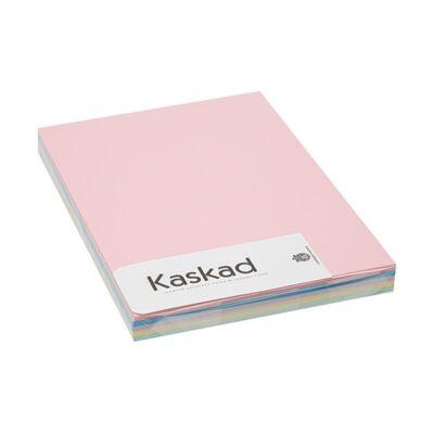 Dekorációs karton KASKAD A/4 160 gr pasztell vegyes színek 5x25 ív/csomag