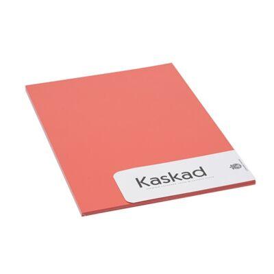 Névjegykártya karton KASKAD A/4 2 oldalas 225 gr korallpiros 28 20 ív/csomag