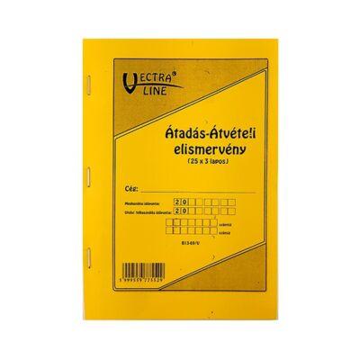 Nyomtatvány átadás-, átvételi elismervény VECTRA-LINE 25x3