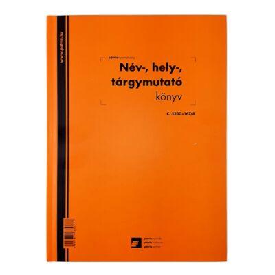 Nyomtatvány név, hely, tárgymutató könyv PÁTRIA A/4 100 lapos