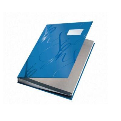 Aláírandókönyv LEITZ A/4 kék