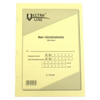 Nyomtatvány napi pénztárjelentés VECTRA-LINE 25x4