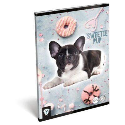 Füzet LIZZY CARD A/5 32 lapos sima 20-32 Sweetie pup