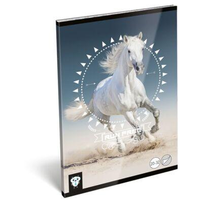 Füzet LIZZY CARD A/5 32 lapos sima 20-32 Horse