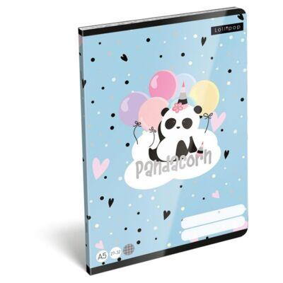 Füzet LIZZY A/5 32 lapos kockás 27-32 Pandacorn