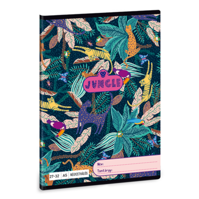 Füzet ARS UNA A/5 32 lapos kockás 27-32 Jungle