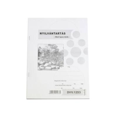 Nyomtatvány nyilvántartás (standkönyv)