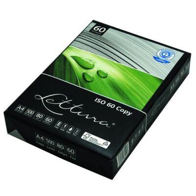Fénymásolópapír LETTURA ISO 60-s A/4 újrahasznosított 80 gr 500 ív/csomag