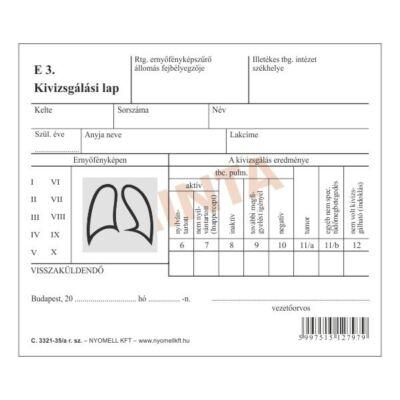 Nyomtatvány röntgen lelet tasak PÁTRIA 375x420mm