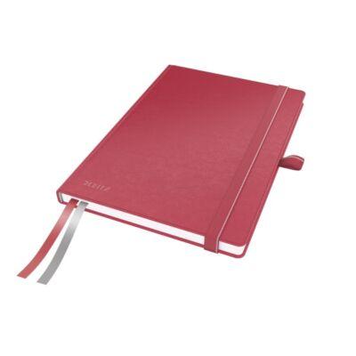 Jegyzetfüzet LEITZ Complete A/5 80 lapos vonalas piros