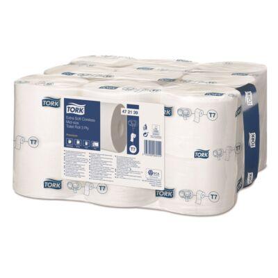 Toalettpapír belsőmag nélküli TORK Extra Soft Midi-size Premium T7 3 rétegű fehér