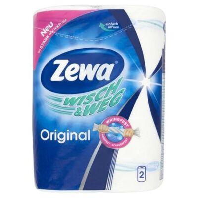 Kéztörlő tekercses háztartási ZEWA Wisch&Weg Original 2 rétegű 2 tekercses