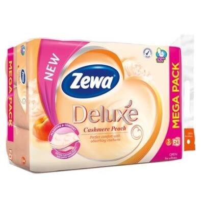 Toalettpapír ZEWA Deluxe 3 rétegű 24 tekercses Cashmere Peach