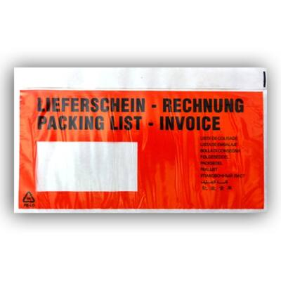 Tasak okmány LIEFERSCHEIN – RECHNUNG LA/4 piros öntapadó